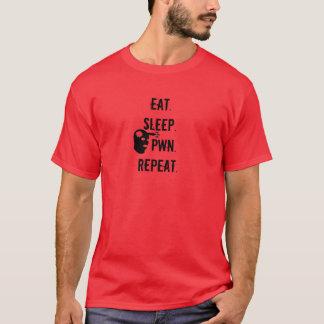 T-shirt Mangez. Sommeil. Pwn. Répétition