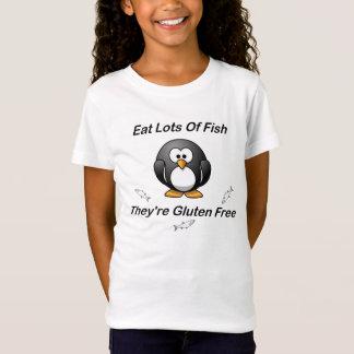 T-Shirt Mangez un bon nombre de poissons, ils sont gluten