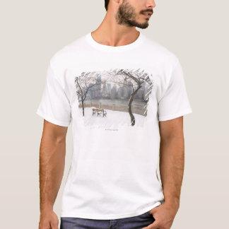 T-shirt Manhattan pendant l'hiver