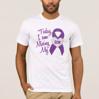 T-shirt Manquant mon fils 1 (ruban pourpre)