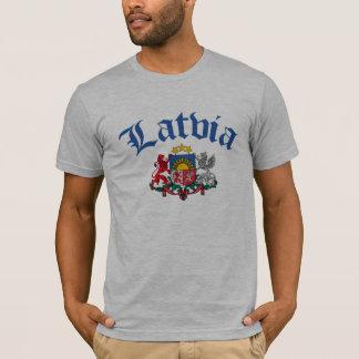 T-shirt Manteau de la Lettonie des bras