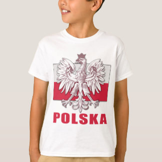 T-shirt Manteau de la Pologne Polska des bras