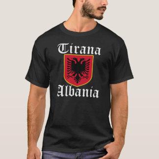 T-shirt Manteau de l'Albanie Tirana des bras
