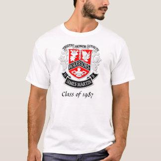 T-shirt Manteau de MHS de blanc de chemise de diplômé de