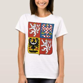 T-shirt Manteau de République Tchèque des bras