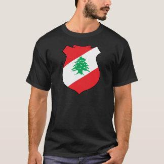 T-shirt manteau d'emblème de شعارلبنان des bras libanais