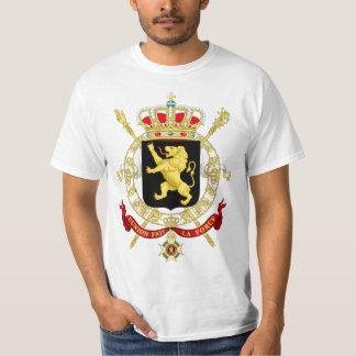 T-shirt Manteau d'emblème de la Belgique des bras -