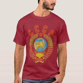T-shirt Manteau soviétique de la chemise des hommes des