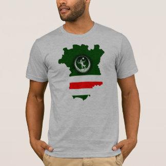 T-shirt Map+Wolf+Flag
