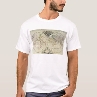 T-shirt Mappamonde Geo-Hydrographique