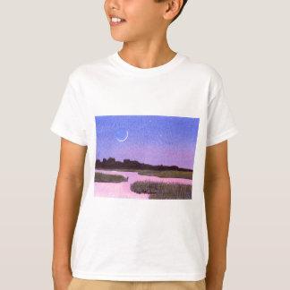 T-shirt Marais de crépuscule de croissant de lune et de