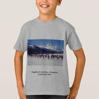 T-shirt Marathon de ski d'Engadin, Silvaplana, Suisse Wint