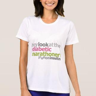 T-shirt Marathoner diabétique - je cours sur l'insuline