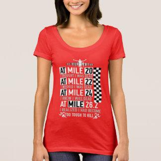 T-shirt Marathonien de fille 26,2 MILLES trop de dur à