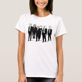 T-shirt marche comique de visages de meme de rage. je