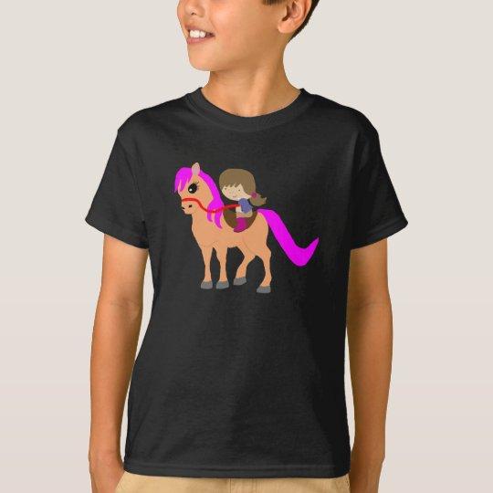 T-shirt Marche sur mon poney
