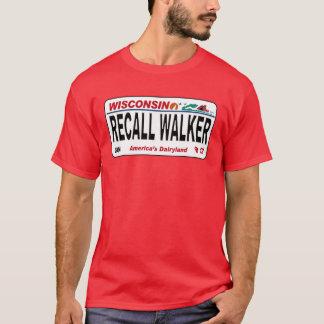 T-shirt Marcheur de rappel - conception de plaque