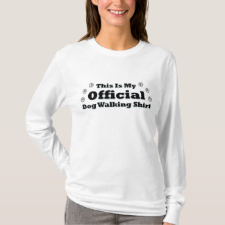 T-shirt Marcheur officiel de chien