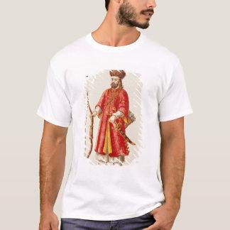T-shirt Marco Polo s'est habillé dans le costume de tartre
