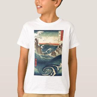 T-shirt Marée japonaise vintage élégante d'océan