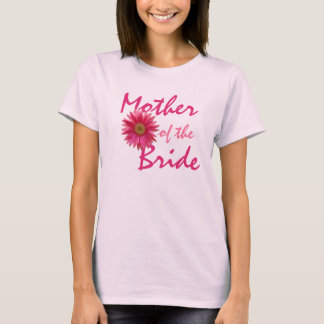 T-shirt Marguerite rose de Gerbera de mère