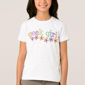 T-shirt Marguerites de fille de geek