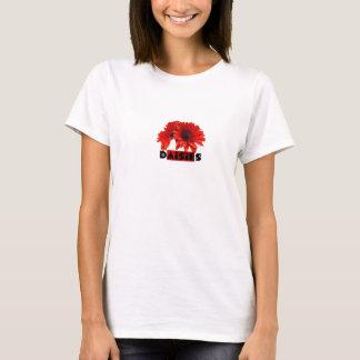 T-shirt Marguerites oranges rouges