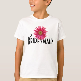 T-shirt Mariage rose de marguerite de Gerbera