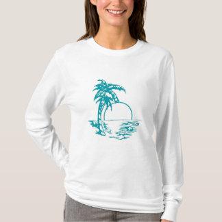 T-shirt Mariage tropical de coucher du soleil