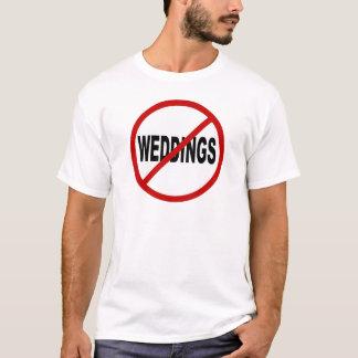 T-shirt Mariages de la haine Weddings/No permis la