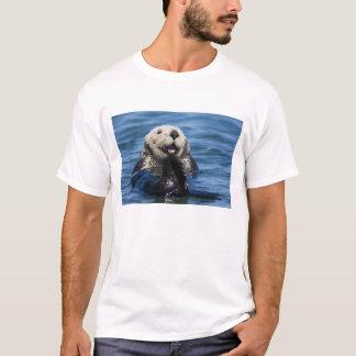 T-shirt Mariés de lutris d'Enhydra de loutre de mer de la