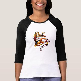 T-shirt Marin blond de fille de rouleau