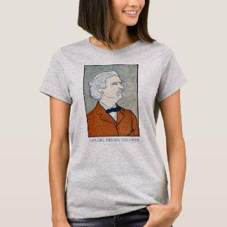 T-shirt Mark Twain vintage - l'explorez. Rêve. Découvrez