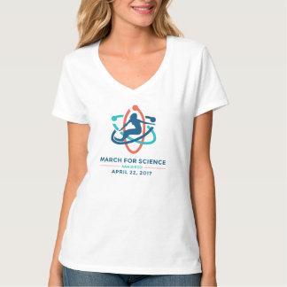 T-shirt Mars pour la Science : San Diego - V de femmes