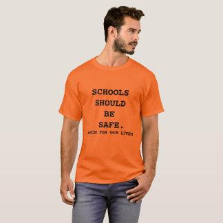 T-shirt Mars pour notre orange de chemise des vies