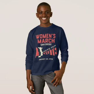 T-shirt Mars San Diego des femmes badine la longue douille