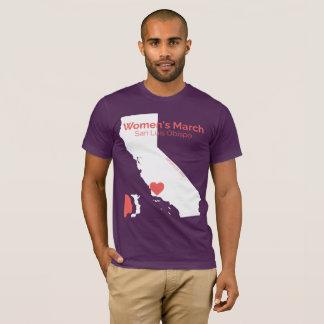 T-shirt Mars SLO - chemise pourpre des femmes