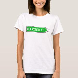 T-shirt Marseille, panneau routier, France