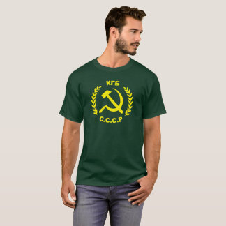 T-shirt Marteau et faucille de KGB CCCP
