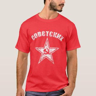 T-shirt Marteau rouge soviétique vintage et faucille