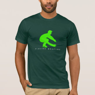 T-shirt masculin de silhouette de patineur