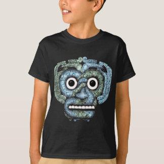 T-shirt Masque aztèque de Tlaloc de mosaïque