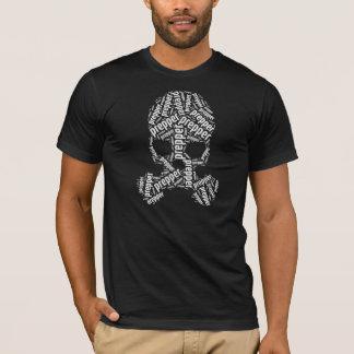 T-shirt Masque de gaz de crâne de Prepper