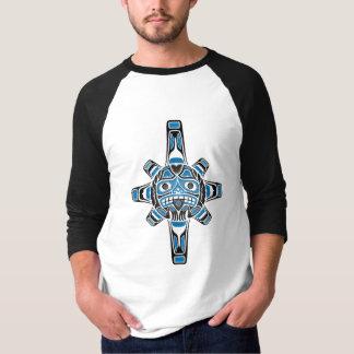 T-shirt Masque de Sun de Haida, bleu