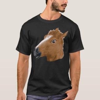 T-shirt Masque déplaisant de tête de cheval