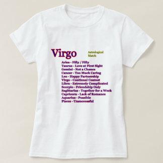 T-shirt Match astrologique de Vierge les cadeaux de Zazzle