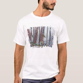 T-shirt Mâts de drapeau de prière en montagne, passage de