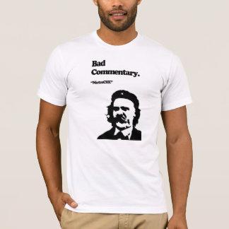 T-shirt Mauvais commentaire : NietzsCHE !