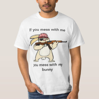 T-shirt mauvais drôle de lapin
