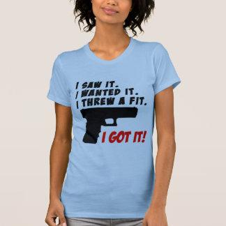 T-shirt Mauvaise humeur d'humeur d'arme à feu